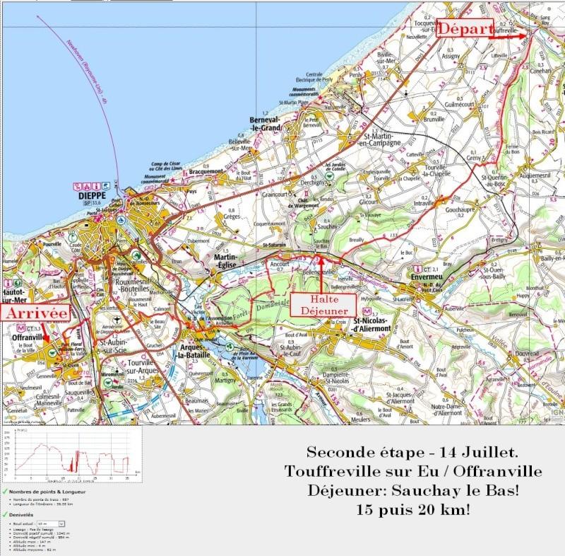 """13 au 17 juillet - Randonnée attelage """"Baie de Somme-> Baie de Seine !"""" Etape210"""