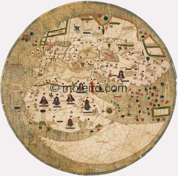Mappemonde Catalane (1450) Big-5910