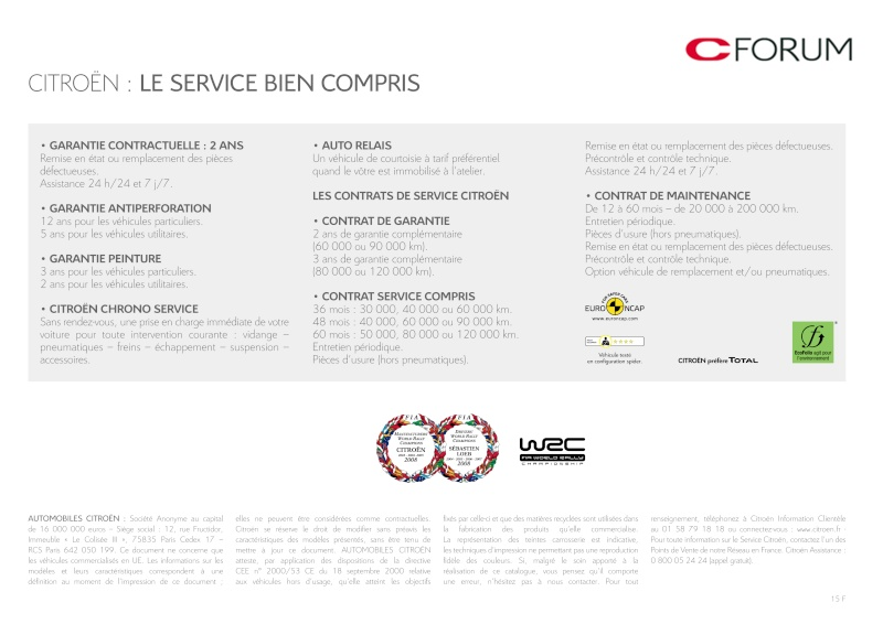 [Documentation] Brochures Citroën Catal285
