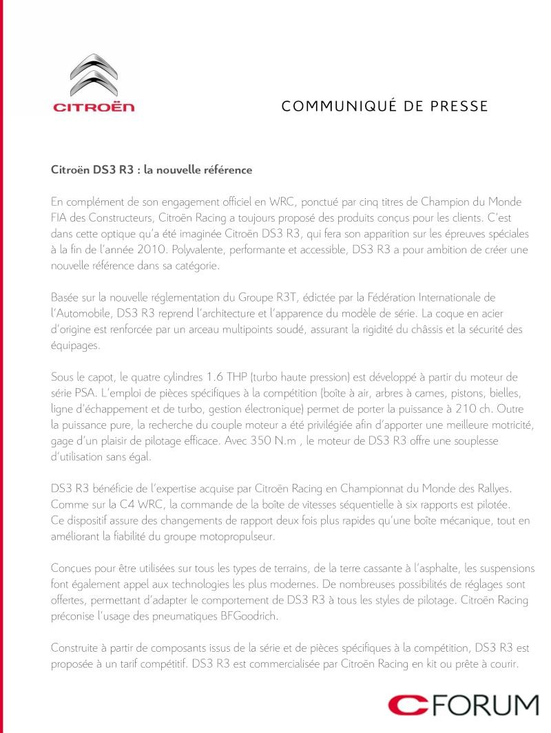 [OFFICIEL] Nouvelle DS3 R3 Cpfran11