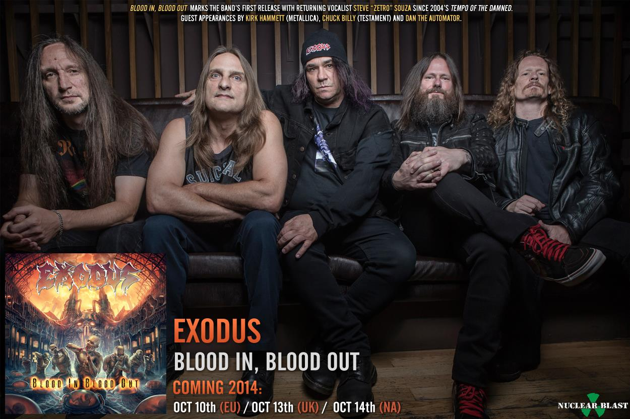 "EXODUS  ""Blood In, Blood Out""  (OCT  2014)  10679510"