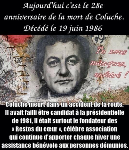 VULCAIN 19 juin (1986) Hommage à Coluche mort il y a 28 ans ce jour ... 19796310