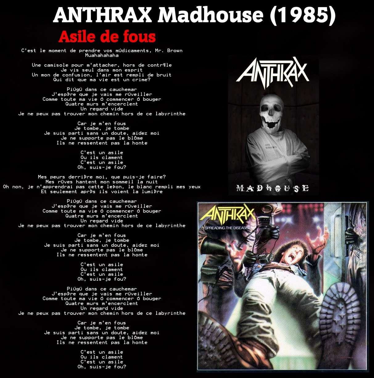 ANTHRAX Madhouse/Asile de fous (1985) Anthra11