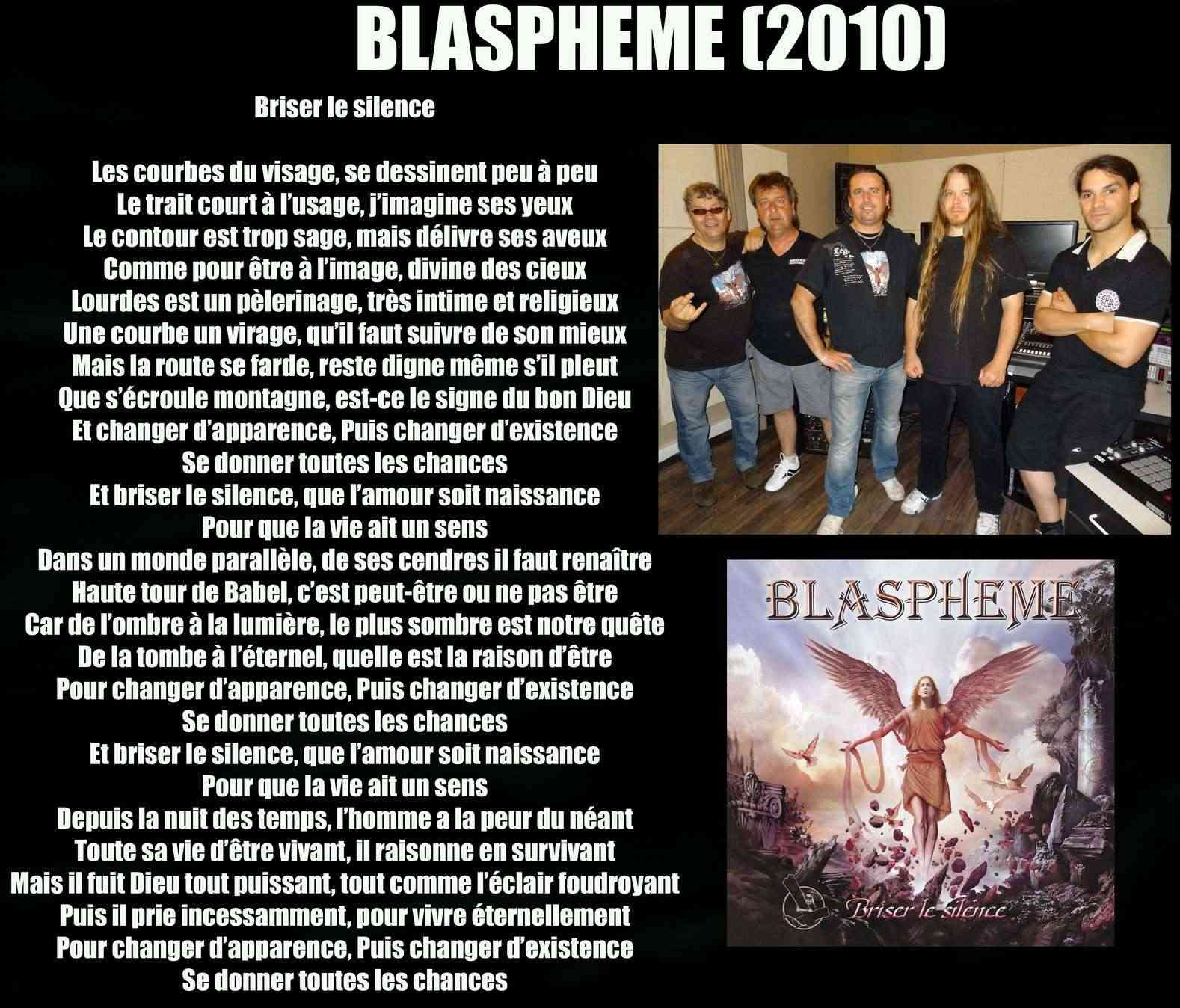 BLASPHEME Briser le silence (2010) Blasph10