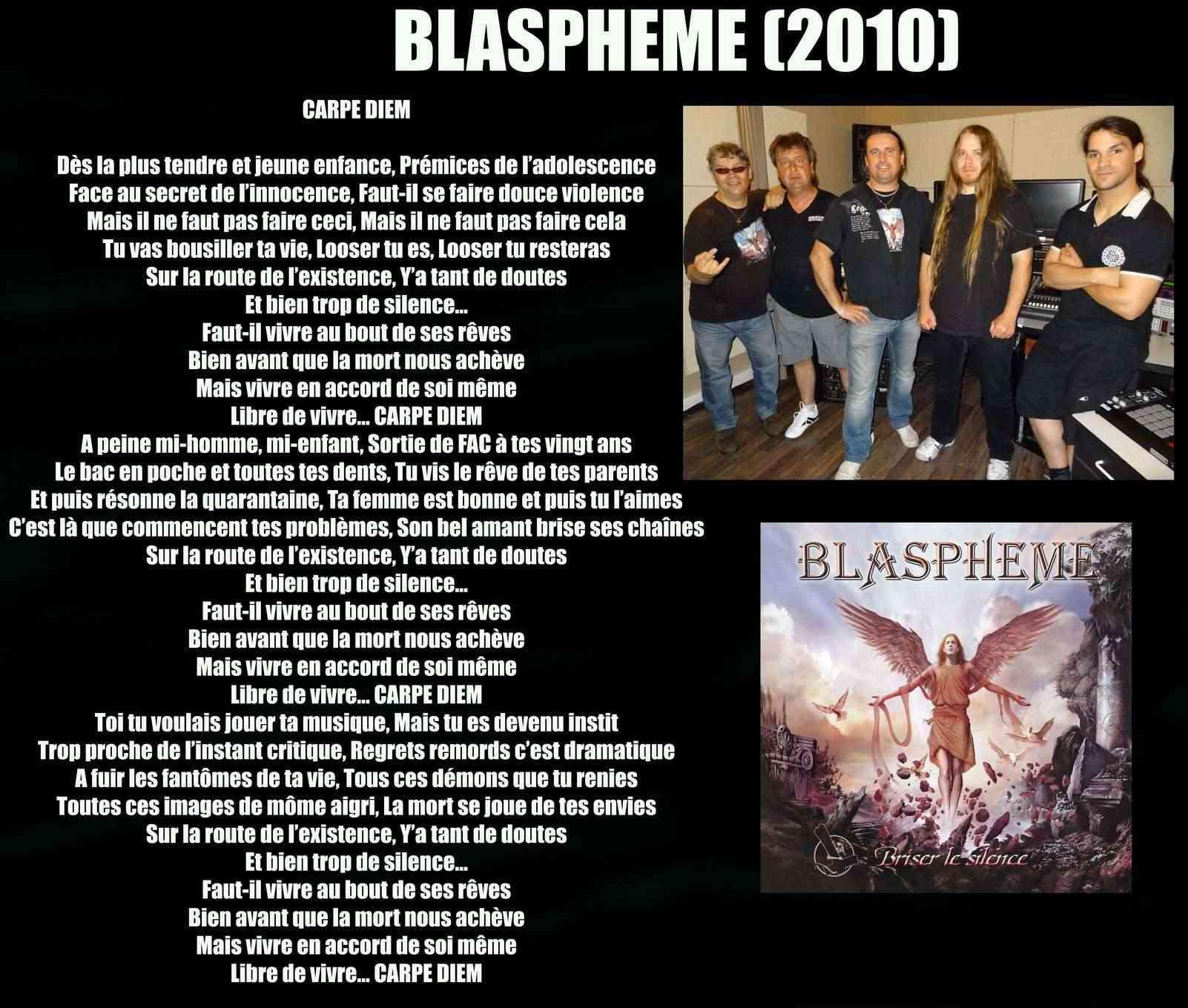 BLASPHEME Carpe Diem (2010) Blasph11