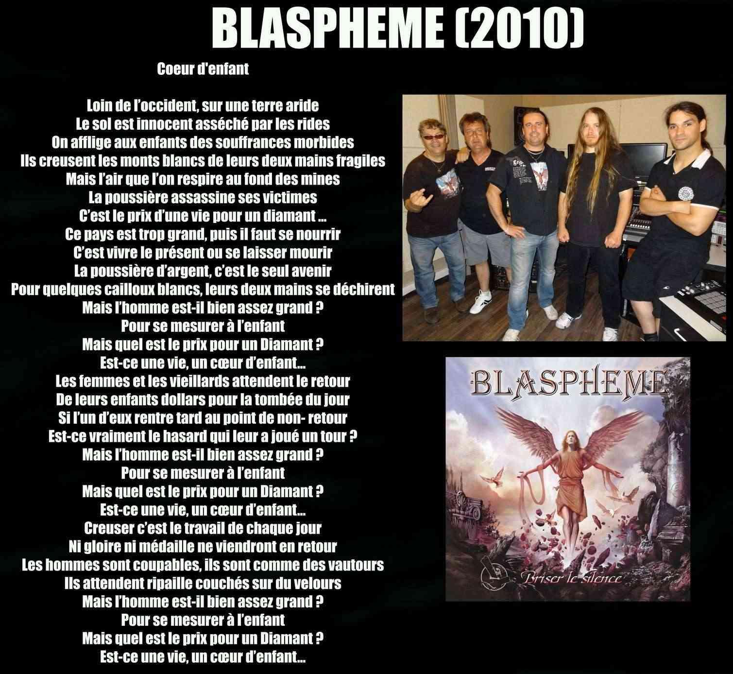 BLASPHEME Coeur d'enfant (2010) Blasph12