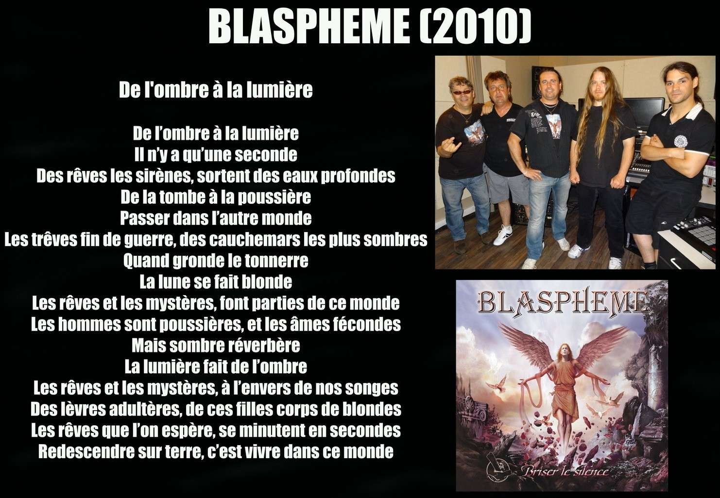 BLASPHEME De l'ombre à la mumière (2010) Blasph13