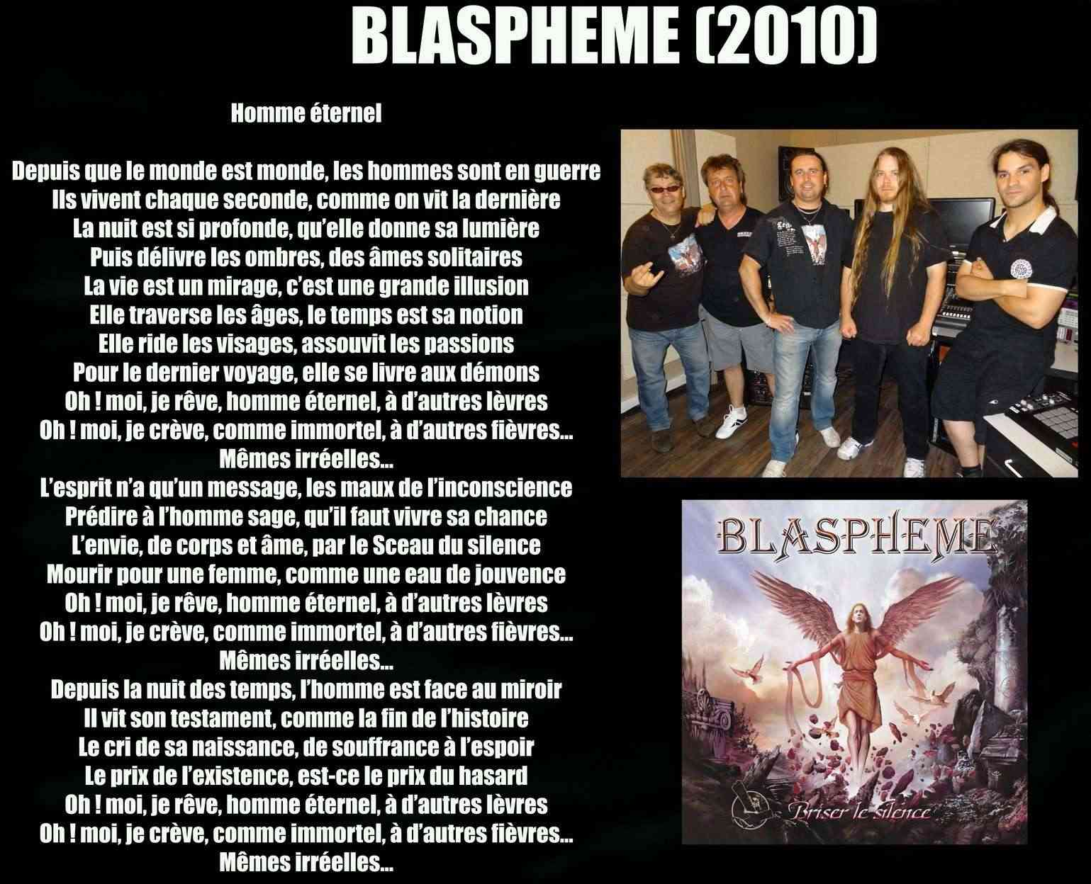 BLASPHEME Homme éternel (2010) Blasph14