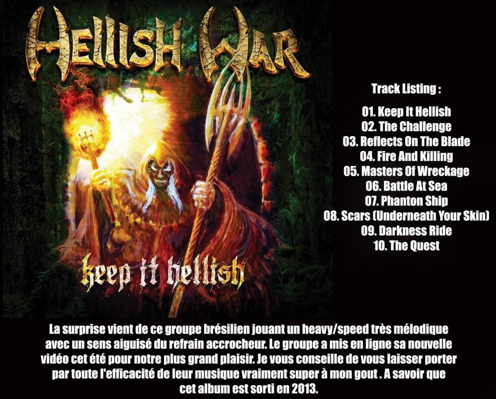 HELLISH WAR Keep It Hellish (2013) Heavy/Speed (Coup de coeur) Hellis10