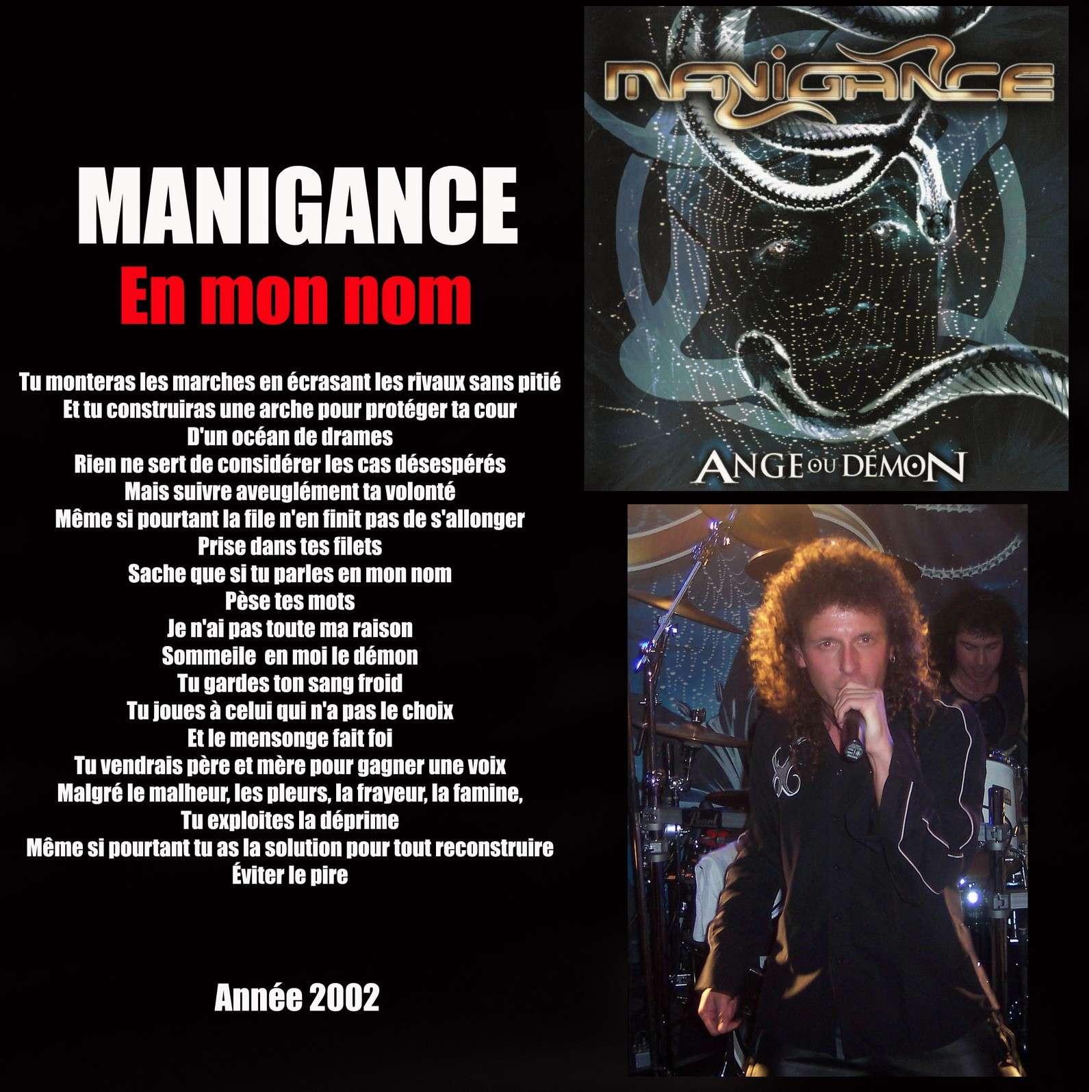 MANIGANCE En mon nom (2002) Maniga11
