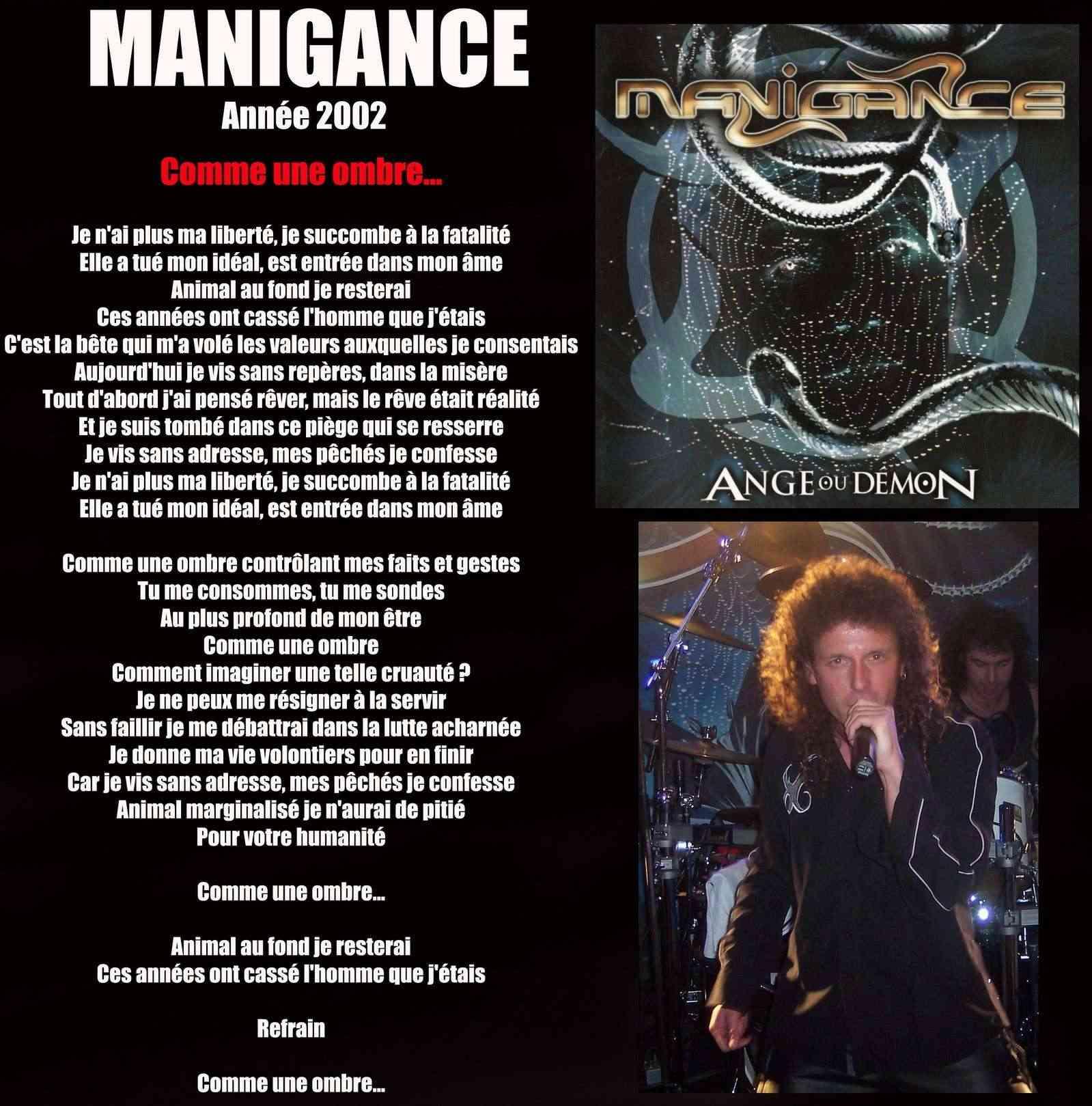 MANIGANCE Comme une ombre (2002) Maniga12