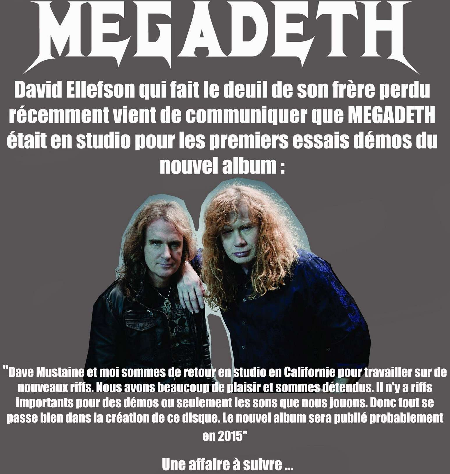 Les NEWS du METAL en VRAC ... - Page 4 Megade10