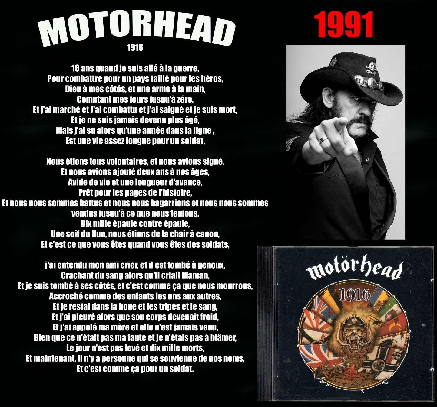 MOTORHEAD 1916 (1991) Motorh10