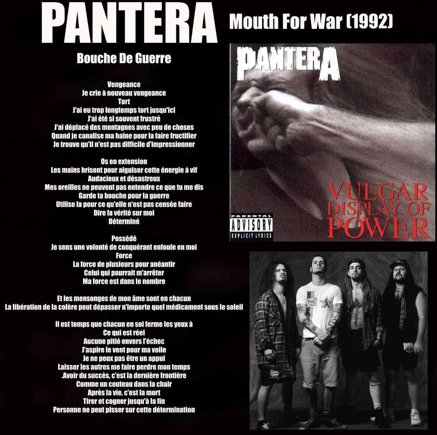 PANTERA Mouth For War (1992) Panter11