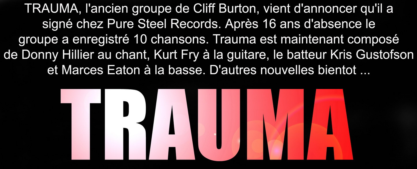 Les NEWS du METAL en VRAC ... - Page 4 Trauma10