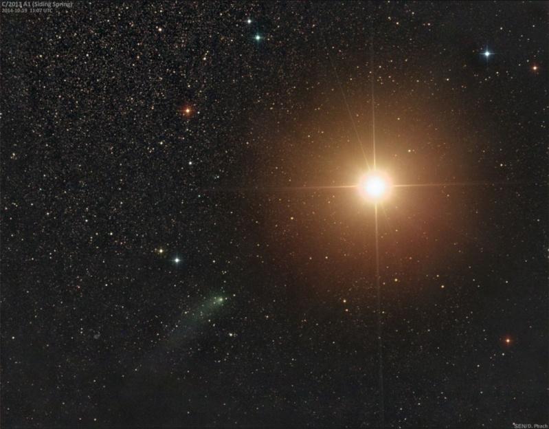 La comète Siding Spring frôle Mars  14102010