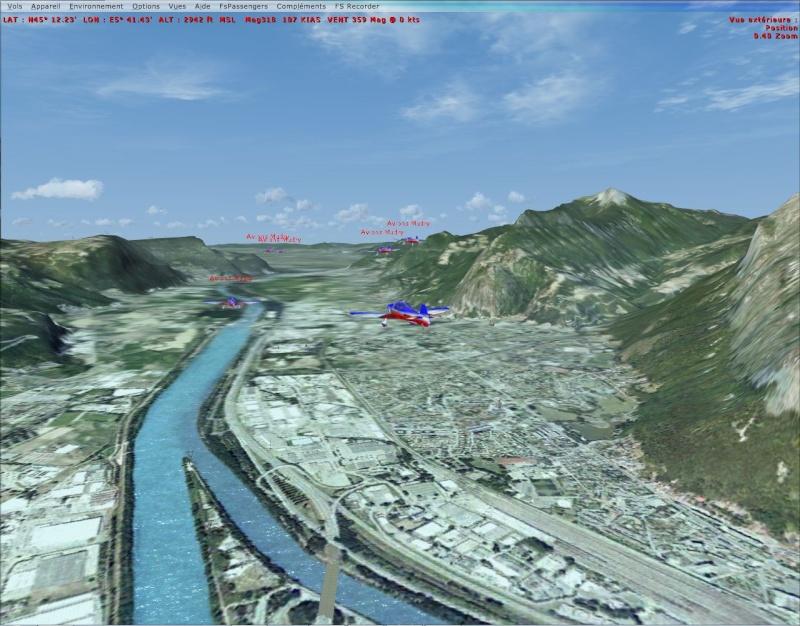 VOL FORMATION CAP10  vol en formation dans les Alpes Cap10_18