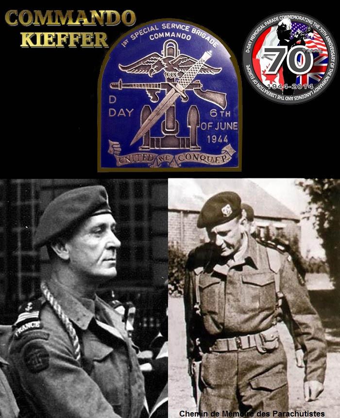 Pour le D-Day, des commémorations grand format - Léon Gautier, 91 ans, ancien membre des commandos Kieffer, a assisté à la cérémonie de Colleville, près du lieu où il a débarqué le 6 juin 1944 3_kief10