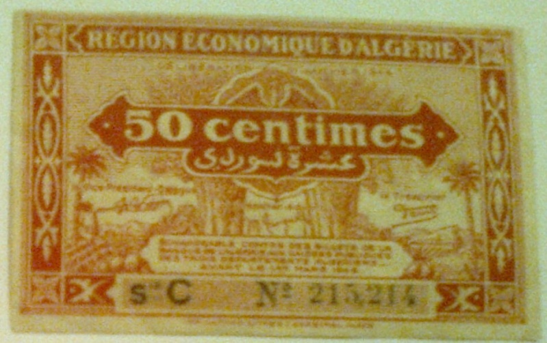 Pour les échanges -Billets Algérie < 1962 - 50_cen10