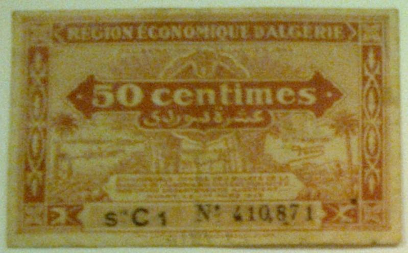 Pour les échanges -Billets Algérie < 1962 - 50_cen11