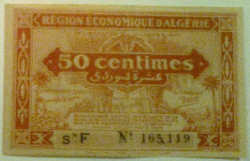 Pour les échanges -Billets Algérie < 1962 - 50_cen12