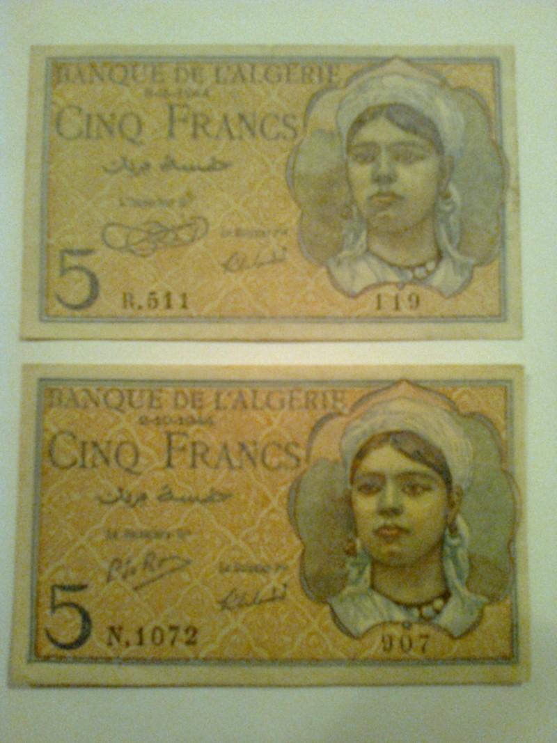 Pour les échanges -Billets Algérie < 1962 - Photo010