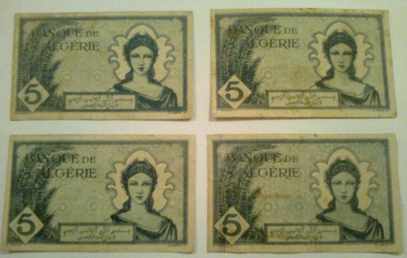 Pour les échanges -Billets Algérie < 1962 - Photo011