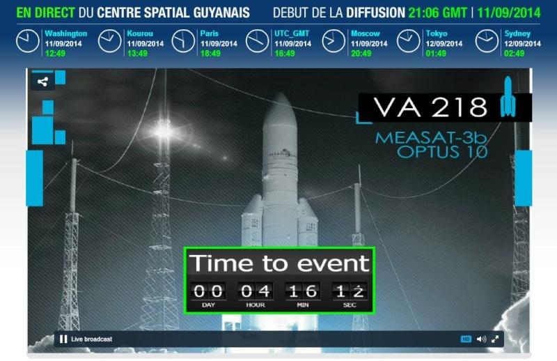 Lancement Ariane 5 ECA VA218 / Measat 3B + Optus 10  - 11 septembre 2014 - Page 4 Va218h10