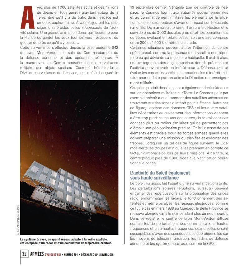 Le radar GRAVES et efficacité de détection PAN Suveil10