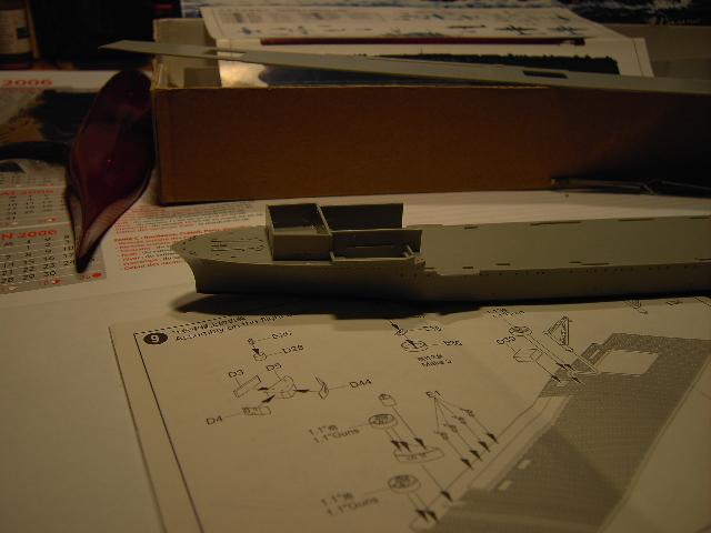 USS Hornet CV-8 tumpeter 1/700 Pict8613