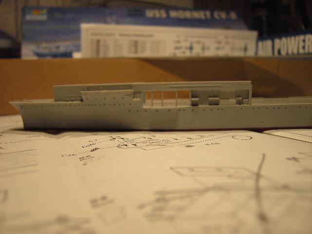 USS Hornet CV-8 tumpeter 1/700 Pict8616