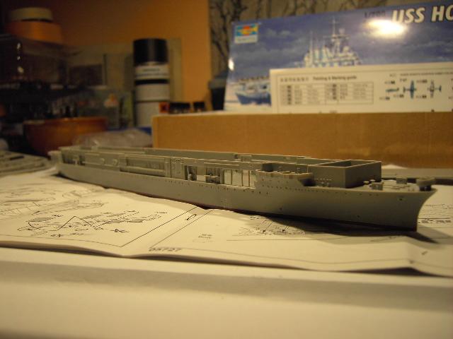 USS Hornet CV-8 tumpeter 1/700 Pict8618