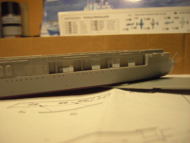 USS Hornet CV-8 tumpeter 1/700 Pict8621