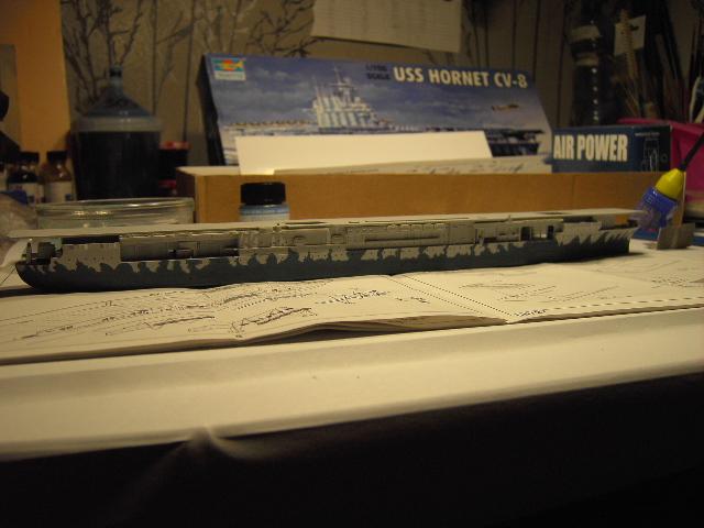 USS Hornet CV-8 tumpeter 1/700 Pict8623