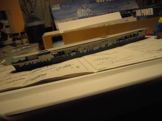 USS Hornet CV-8 tumpeter 1/700 Pict8624