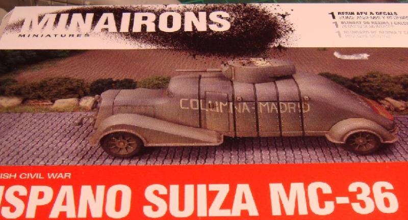 Blindés Espagnols guerre civile [Minairons Miniatures, 1/72] Hispan10