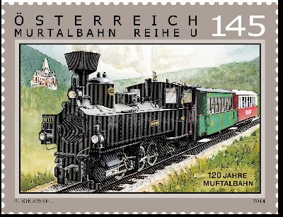 """Sonderpostbeförderung anläßlich """"120 Jahre Murtalbahn"""" am 10.10.2014.  120_ja11"""