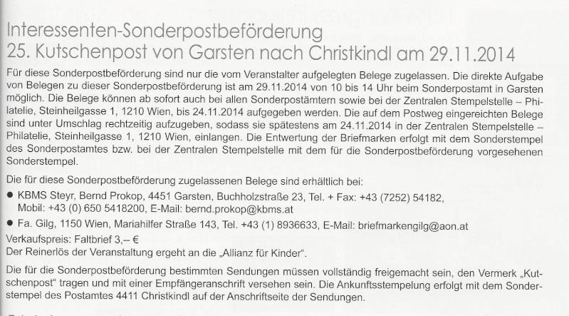 nach - 25. Kutschenpost von Garsten nach Christkindl am 29.11.2014 25_kut10