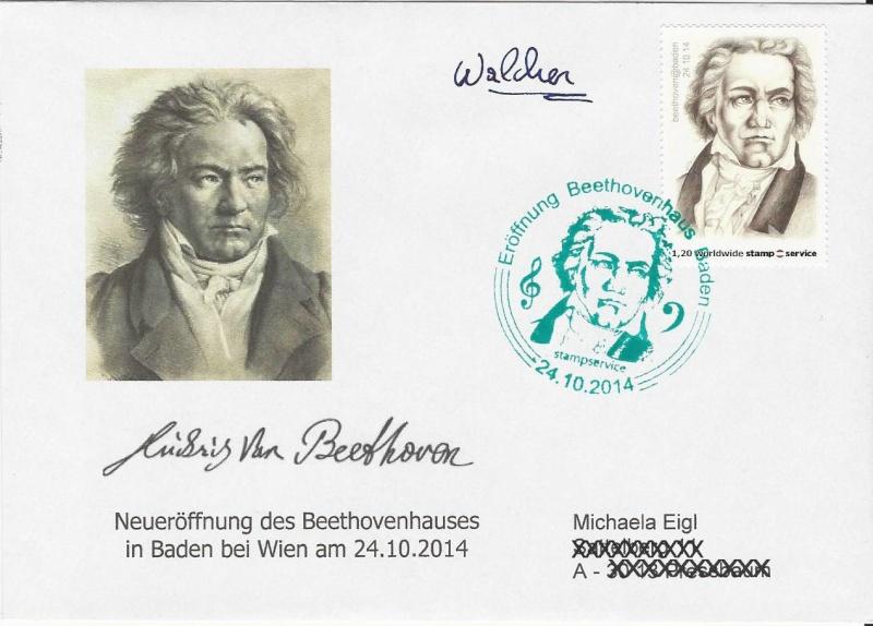 1.privaten Briefmarken Österreich Beeeth10