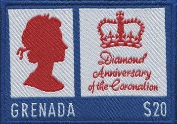 Textile Briefmarken Bild132