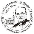 """Sonderpostamt """"Im Gedenken an Carl Lampert""""im Konsumsaal Göfis Bild810"""