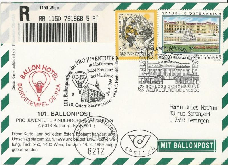 ballonpost - Ballonpostflug Pro Juventute Scan0016