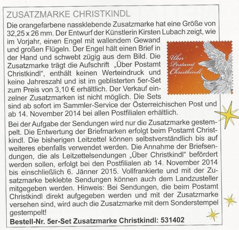 Postamt Christkindl  Leitzettel Scan0020