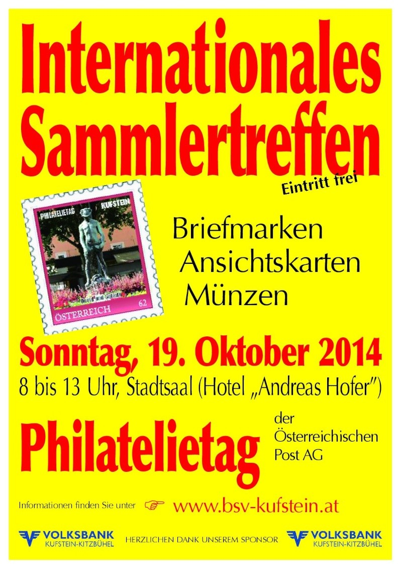 Großtauschtag und Philatelietag der Post im Stadtsaal von Kufstein Tausch10