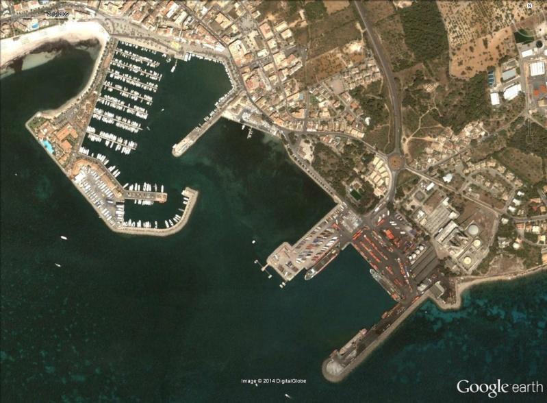Les ferries HSV2 sur Google Earth Alcudi10
