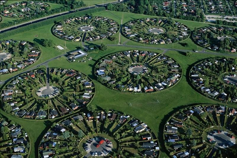 Lotissement rond de Brondby - Danemark Brondb10
