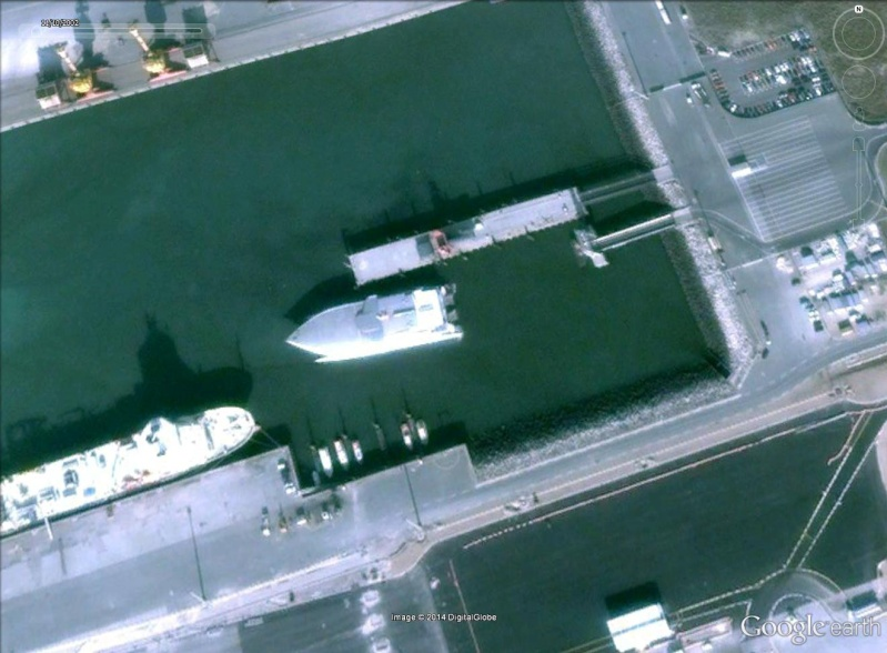 Les ferries HSV2 sur Google Earth Calais12