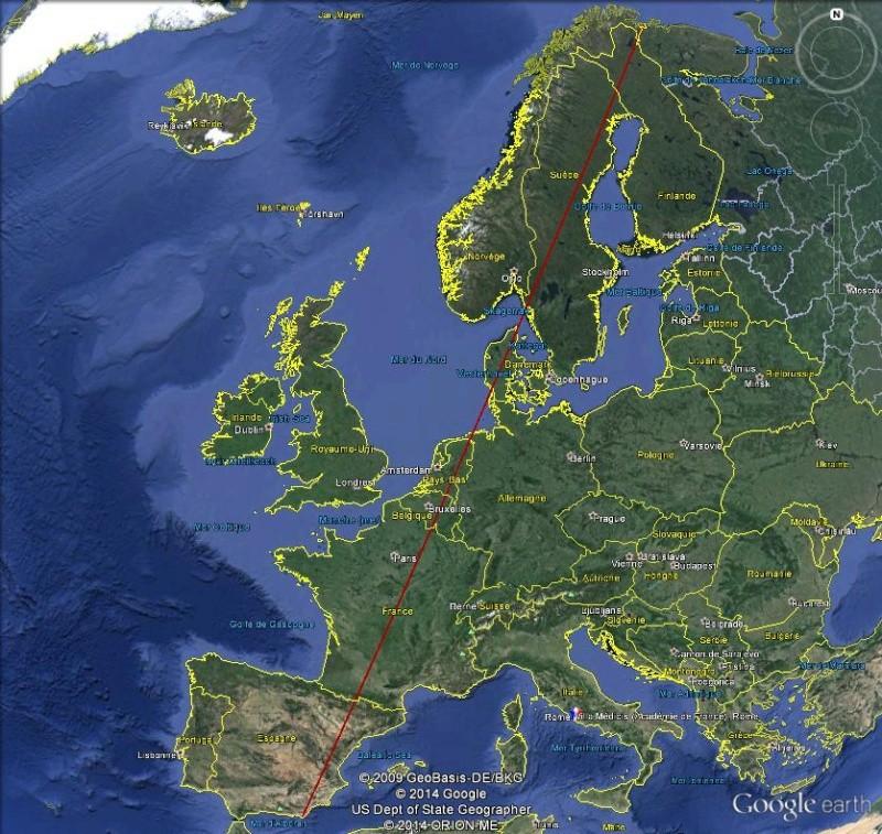 Diagonale européenne de Grense Jakobselv (NORVEGE) au Cap de Gate (ESPAGNE) Diago11