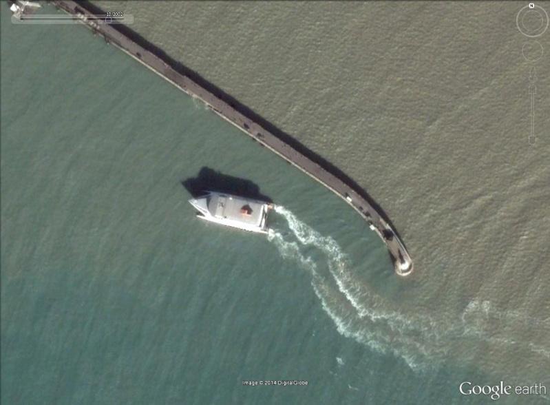 Les ferries HSV2 sur Google Earth Douvre10