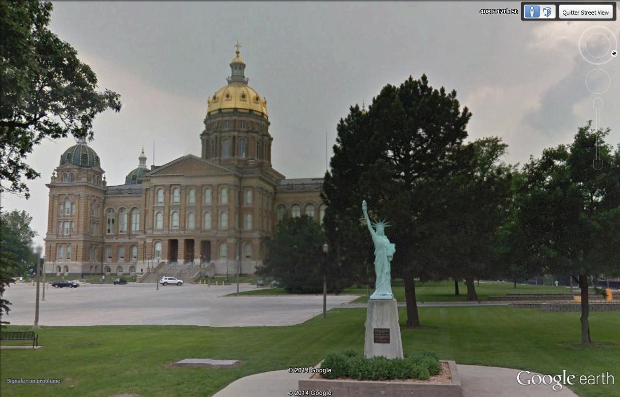 Statue de la Liberté = les répliques découvertes grâce à Google Earth - Page 5 Iowa10